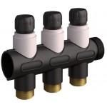 Kompozitinio 3 atšakų kolektoriaus su balansiniais ventiliais komplektas G2