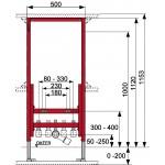 Bidė potinkinio montavimo modulis TECE