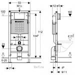 WC potinkinio montavimo modulis Geberit 458.160.00.1