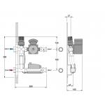 Pamaišymo mazgas grindininiam šildymui DANFOSS FHM-C6 (siurblys Grundfos UPS 16-60)