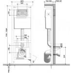 WC rėmas CERSANIT su dangčiu ir klavišu K97-185